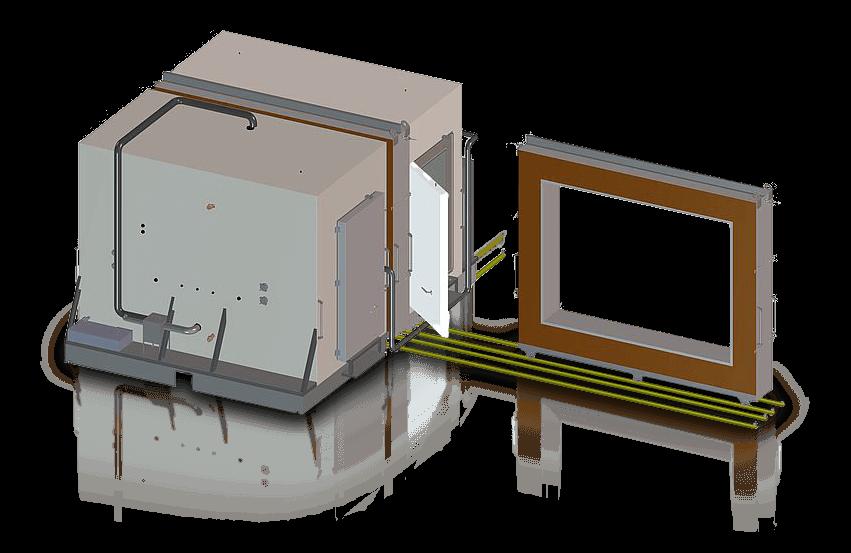 Calorimetrische kamer voor het testen van materialen